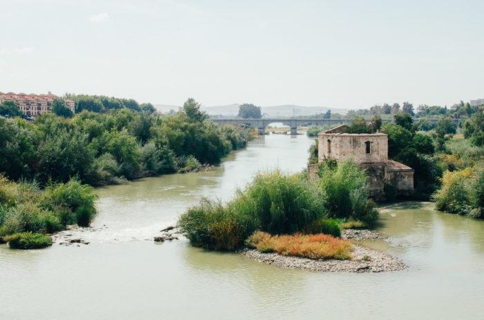 Guadalquivir river in Cordoba Andalusia Spain taken by Milie Del