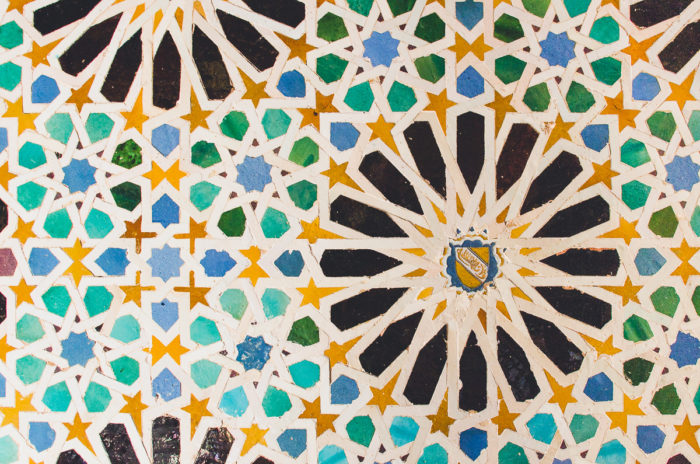color details inside the alhambra in Granada Andalusia Spain taken by Milie Del