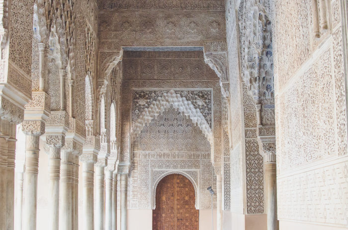 stunning details of Arches in the Alhambra in Granada Andalusia Spain taken by Milie Del