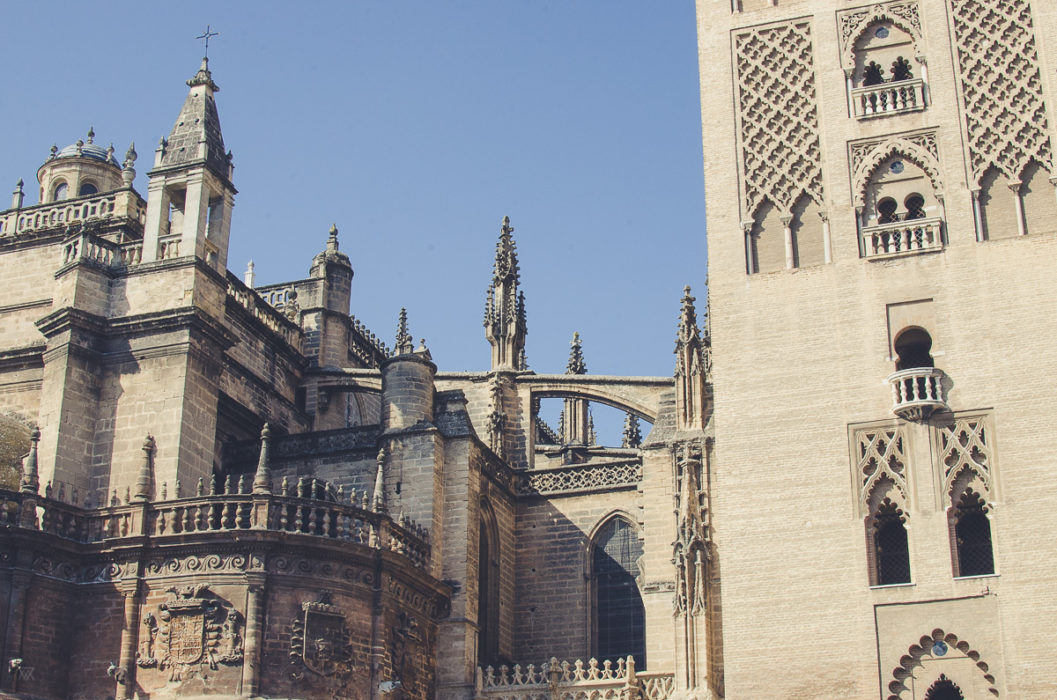 outside of the Catedral de Sevilla Andalusia Spain taken by Milie Del