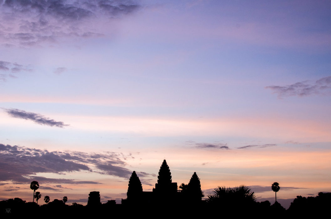 majestic Angkor vat at Sunset in Cambodia taken by Milie Del