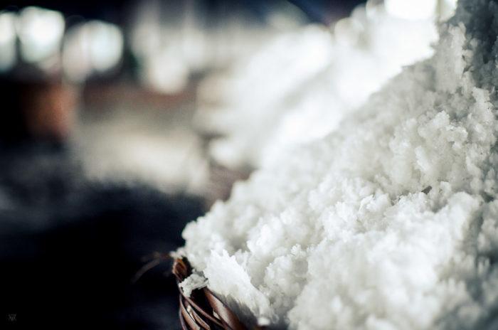 Salt of the earth salt baskets in a salt factory under the rain near Vientiane Laos taken by Milie Del