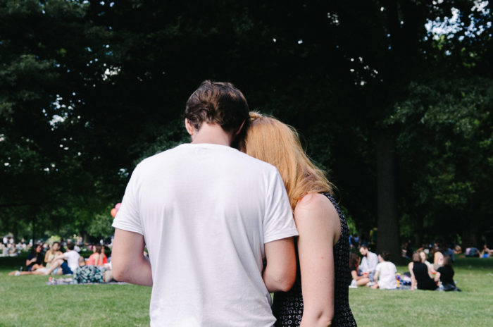 Couple at the park, London taken by Milie Del