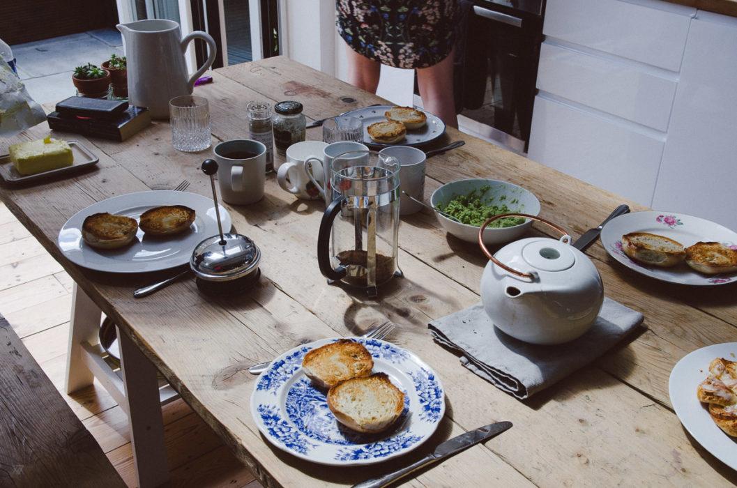 a beautiful breakfast table in Bow Road - London