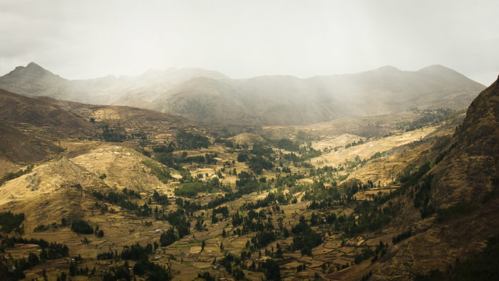 View over the Andes in the amary community in Peru taken by Milie Del