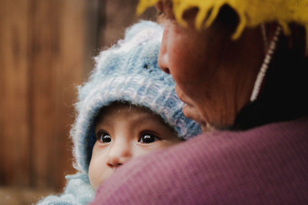 Baby and her mother in the amary community in Peru taken by Milie Del