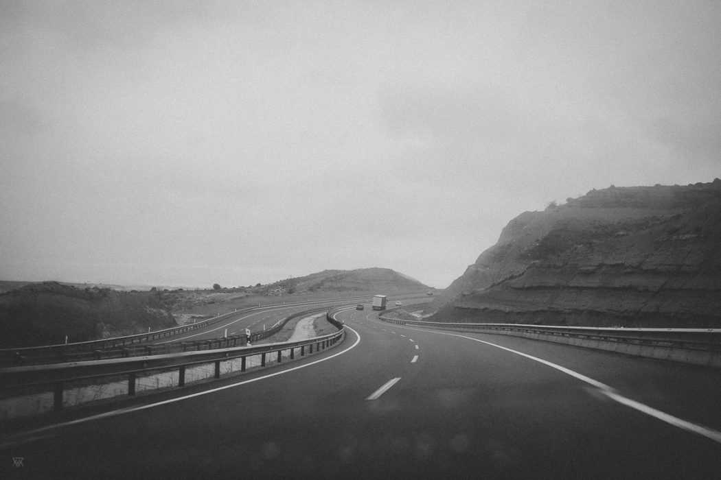 Roadream Black and white photography of a Dream on the Road spain taken by Milie Del