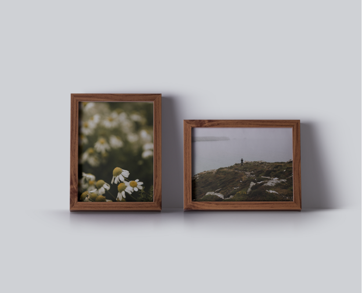 Nice frame vintage feel with photographs by Milie Del for print