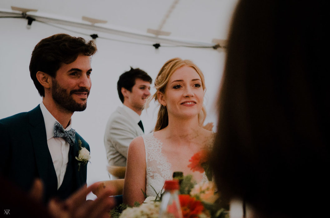 tables groom bride Wedding photographer Milie Del Drôme