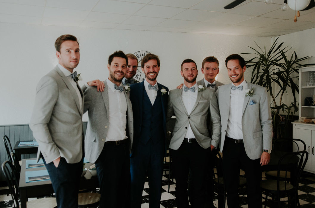 groom team preparation Wedding photographer Milie Del Drôme