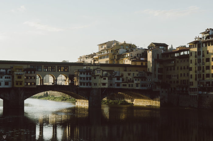 Sunset on Ponte Vecchio, Firenze, Tuscany Italy By Milie Del