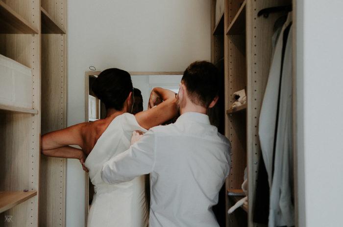 bride preparation wedding photographer Milie Del Montpellier France