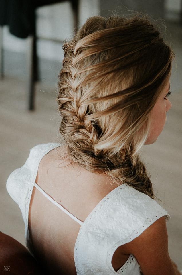 hair wedding photographer Milie Del Montpellier France