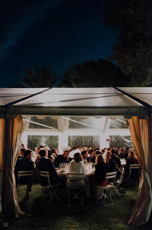 Soirée moonlight wedding photographer Milie Del Montpellier France