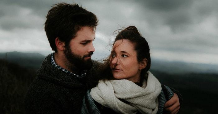 portrait of a couple before the storm - our wildest dreams - Milie Del