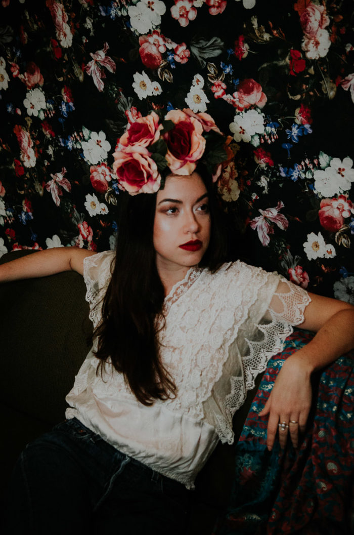flowers fashion Portrait Frida Kahlo inspiration shoot