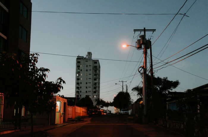 panama city street by night