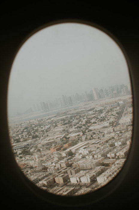 view dubai plane milie del travel photographer