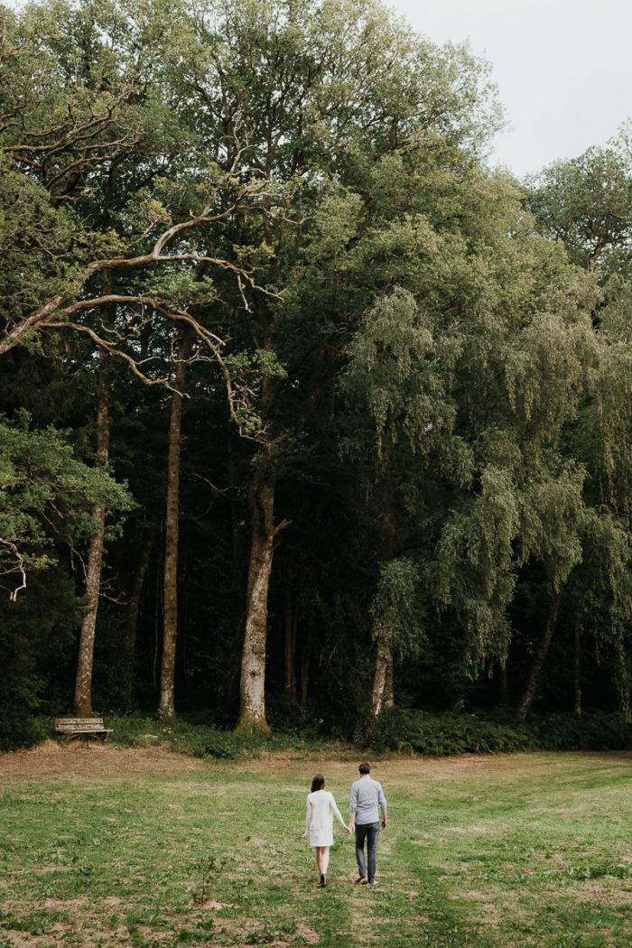 seance engagement bourgogne poesie photographe foret