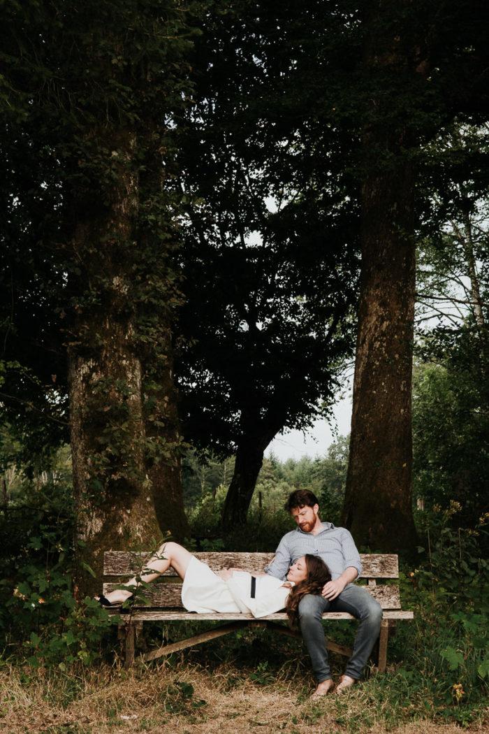 seance engagement foret couple mariage photographe mariage
