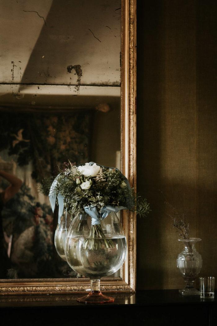bouquet miroir mariage boheme chic