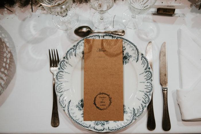 repas table vintage mariage boheme chic