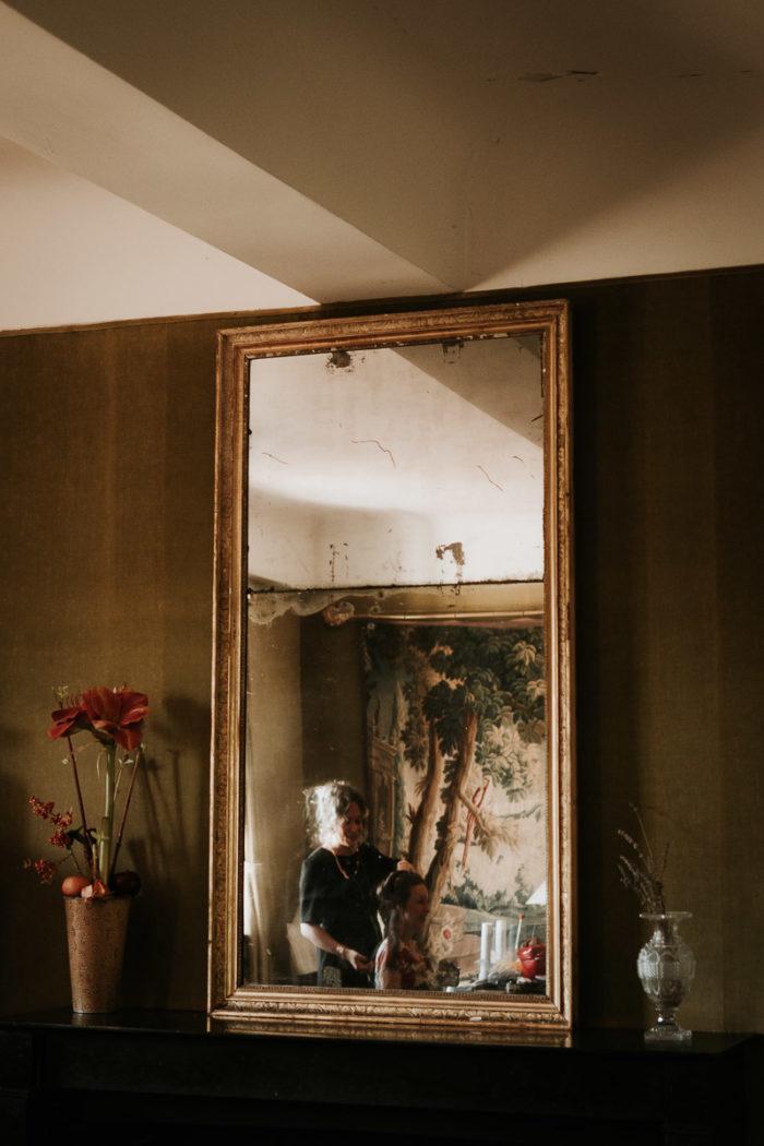reflections miroir mariage boheme chic
