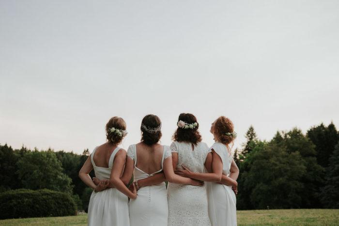 four sister wedding burgundy france boho photographer