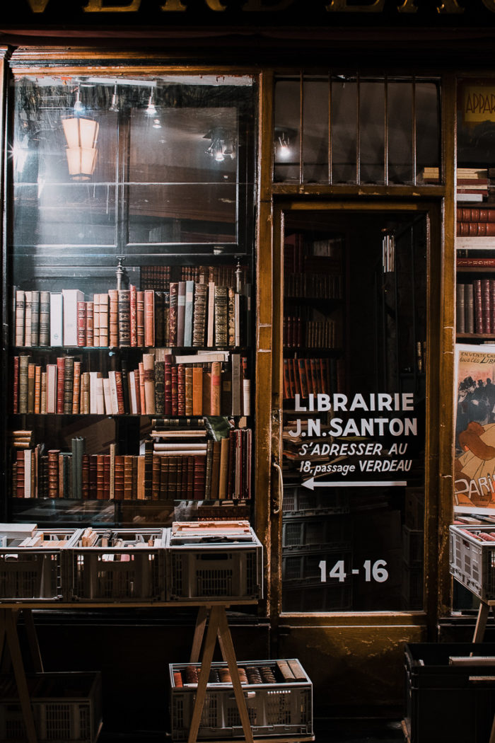 old books library santon Parisian covered passages