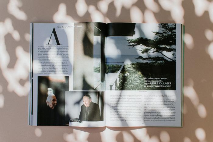 Monopol Magazine issue April 2019 Pierre Soulages Reportage photographer Milie Del
