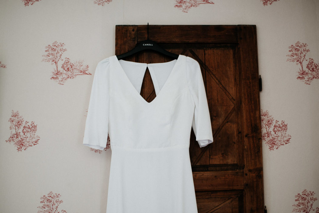 bride's dress antique bedroom soft light milie del