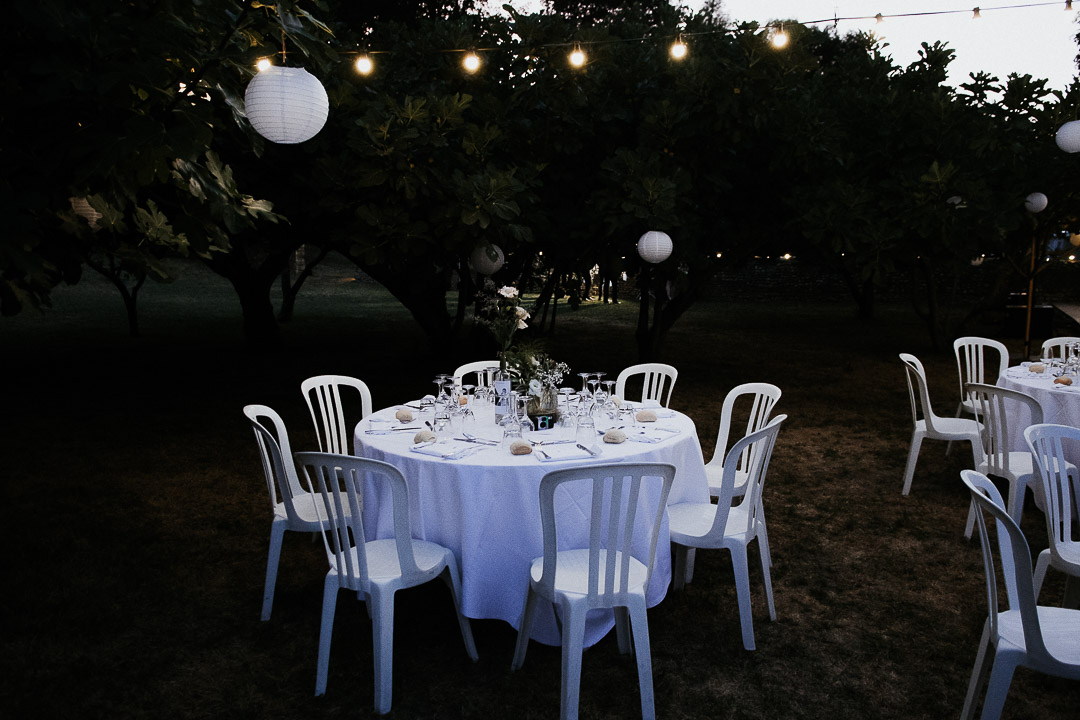Tables settings Wedding night under the fig trees boho reception