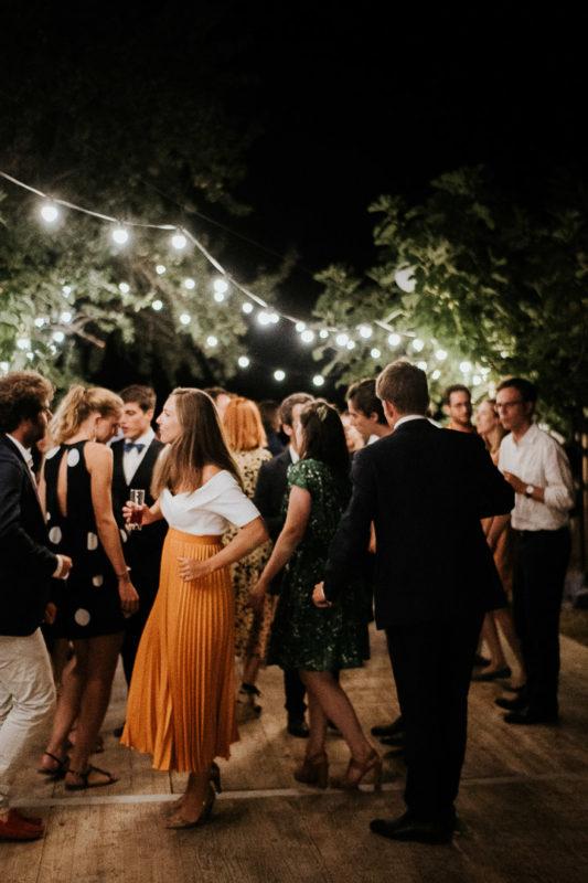 Wedding night under the fig trees boho reception