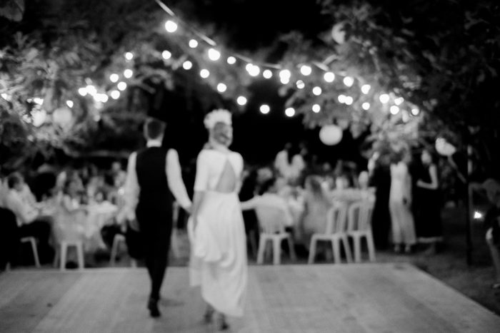 Wedding night under the fig trees boho reception