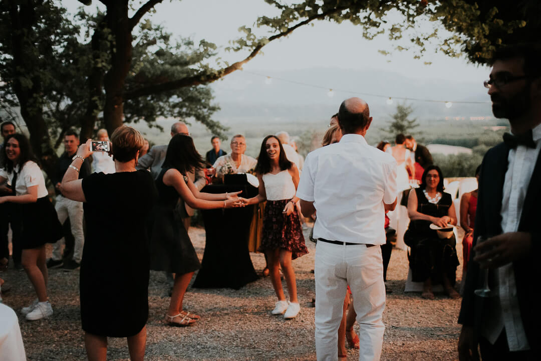 Dancing night wedding isere Milie Del