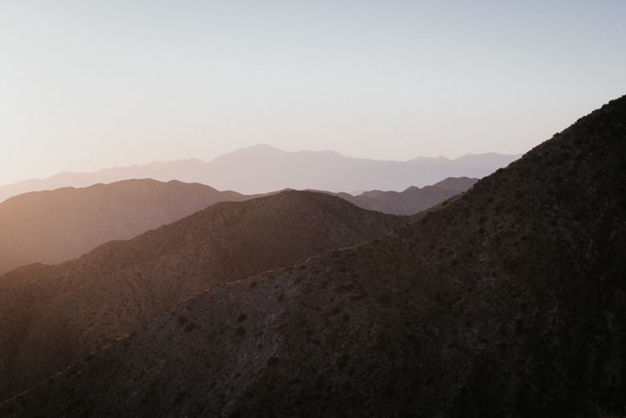 Sunset at Joshua tree hidden valley point view by Milie Del