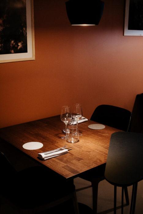 Table au restaurant reflet d'Obione gastronomie montpellier